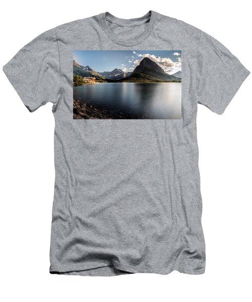 On The Edge Men's T-Shirt (Slim Fit) by Aaron Aldrich