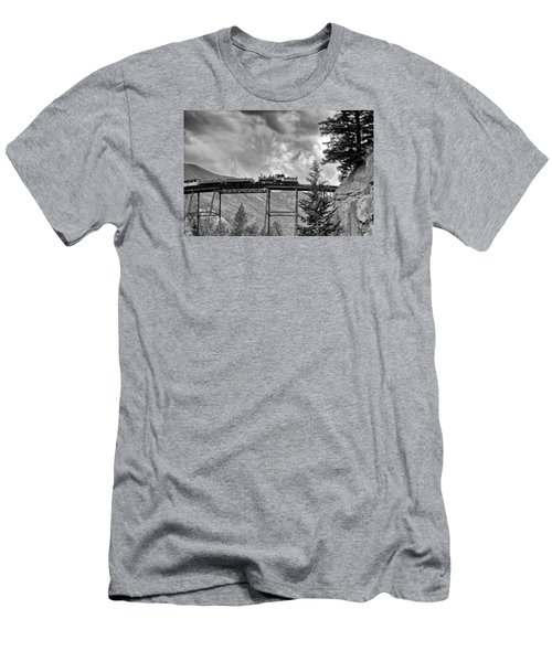 On The High Bridge Men's T-Shirt (Slim Fit) by Shelly Gunderson