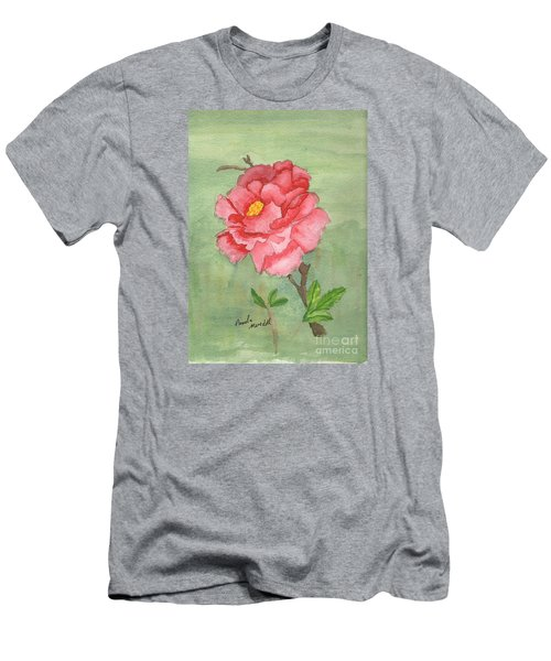 One Rose Men's T-Shirt (Slim Fit) by Pamela  Meredith