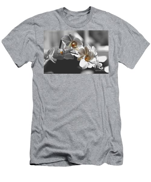 Orange And White Men's T-Shirt (Athletic Fit)