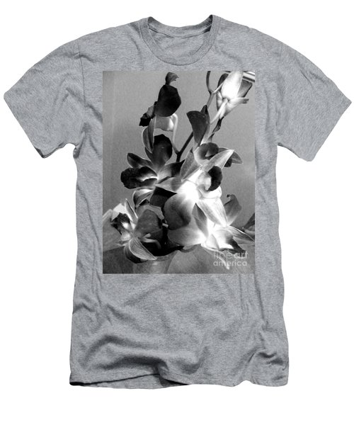 Orchids 2 Bw Men's T-Shirt (Slim Fit) by Barbara Griffin