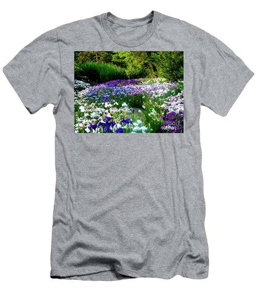 Oriental Ensata Iris Garden Men's T-Shirt (Slim Fit) by Carol F Austin