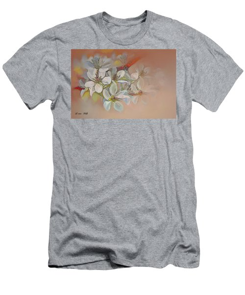 Oriental Pear Blossom Branch Men's T-Shirt (Athletic Fit)