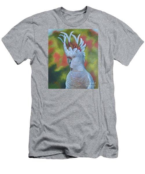 Original Animal Oil Painting Art -parrot #16-2-5-17 Men's T-Shirt (Slim Fit) by Hongtao     Huang