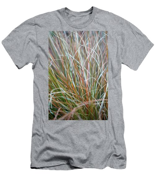Men's T-Shirt (Slim Fit) featuring the photograph Ornamental Grass Abstract by E Faithe Lester