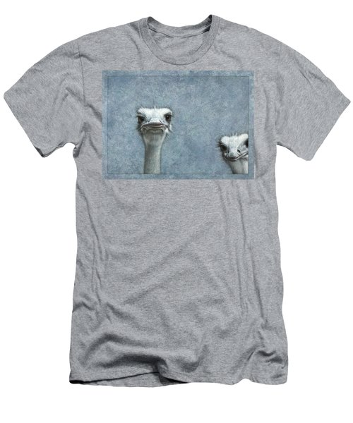 Ostriches Men's T-Shirt (Slim Fit) by James W Johnson