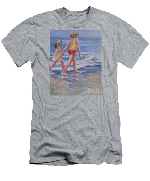 Our Beach Walk Men's T-Shirt (Slim Fit) by Mary Hubley