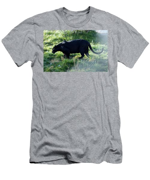 Out Of Africa  Black Panther Men's T-Shirt (Athletic Fit)