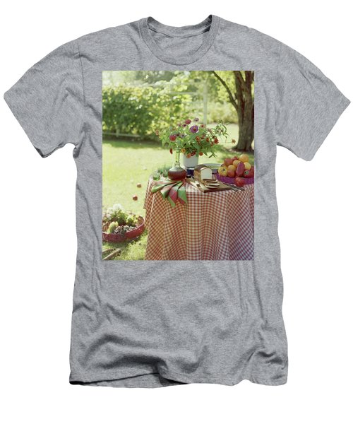 Outdoor Lunch In The Shade Of A Tree Men's T-Shirt (Athletic Fit)