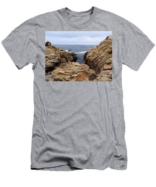 Overcast Day At Pebble Beach Men's T-Shirt (Athletic Fit)
