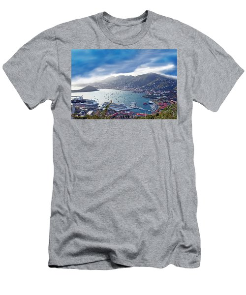 Overlooking The Bay Men's T-Shirt (Athletic Fit)
