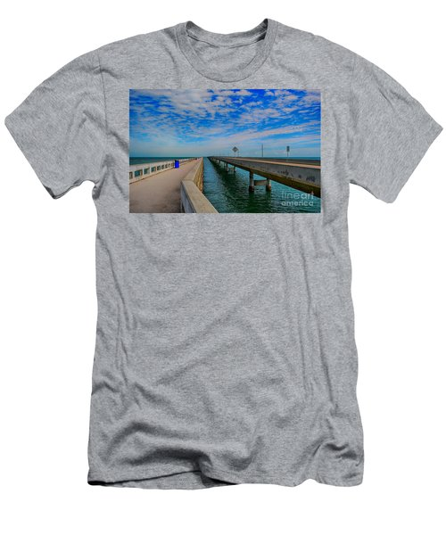 Overseas Highway Florida Keys Men's T-Shirt (Athletic Fit)