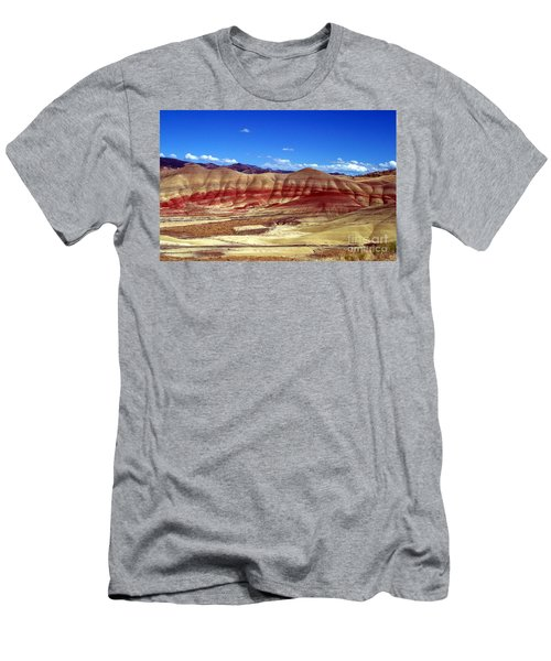 Men's T-Shirt (Slim Fit) featuring the photograph Painted Hills by Chalet Roome-Rigdon