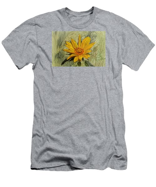 Painterly Sunflower Men's T-Shirt (Slim Fit) by Sandi OReilly