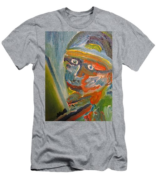 Painting Myself Men's T-Shirt (Athletic Fit)
