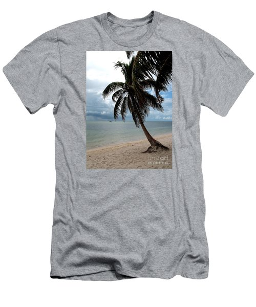 Men's T-Shirt (Slim Fit) featuring the photograph Palm On The Beach by Christiane Schulze Art And Photography