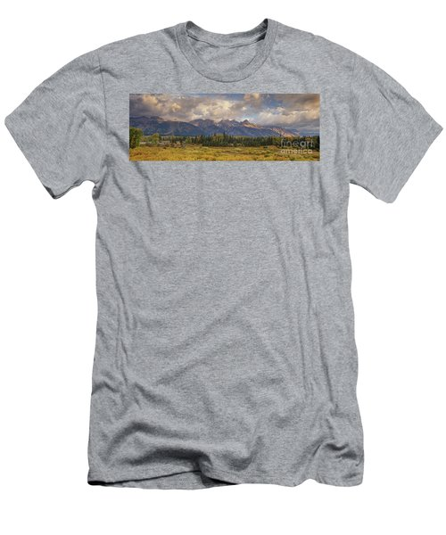 Panaroma Clearing Storm On A Fall Morning In Grand Tetons National Park Men's T-Shirt (Athletic Fit)
