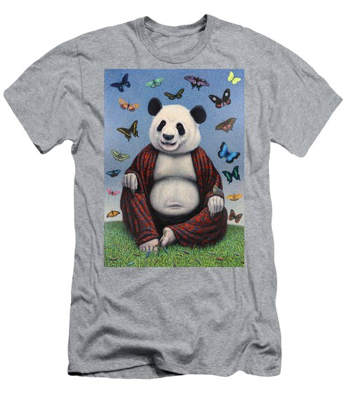 Panda Buddha Men's T-Shirt (Athletic Fit)