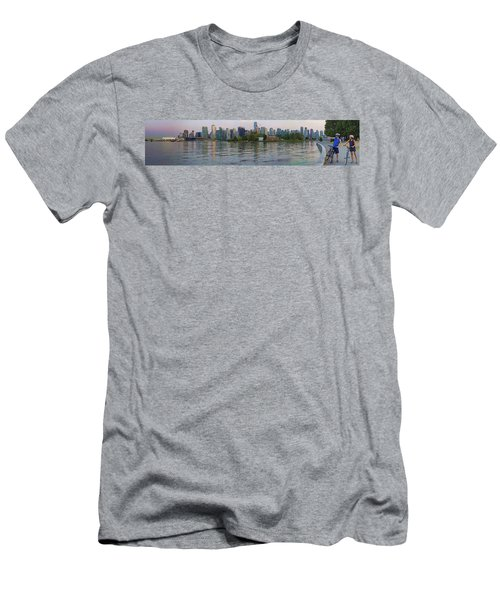 Panorama Of Coal Harbour And Vancouver Skyline At Dusk Men's T-Shirt (Athletic Fit)