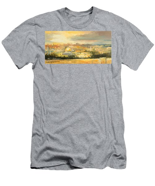 Panorama Of Jerusalem Men's T-Shirt (Athletic Fit)
