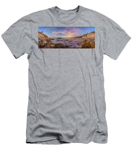 Panorama The Whole Way Round The Cove Men's T-Shirt (Athletic Fit)