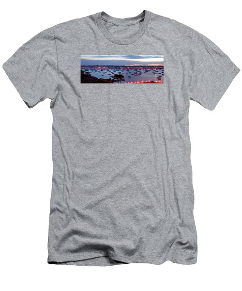 Panoramic Of The Marblehead Illumination Men's T-Shirt (Slim Fit) by Jeff Folger