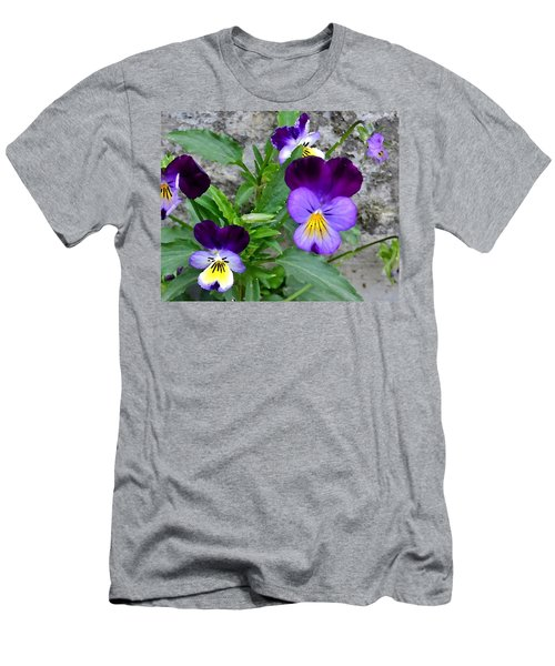 Pansies - Painterly Men's T-Shirt (Athletic Fit)