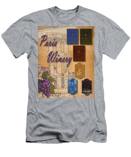 Paris Winery Labels Men's T-Shirt (Athletic Fit)