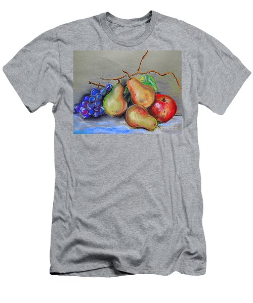 Pastel Pear Still Life Men's T-Shirt (Slim Fit) by Michael Hoard