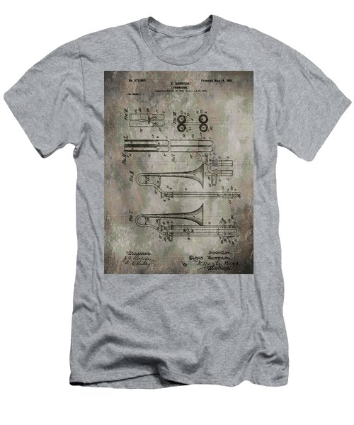 Patent Art Trombone Men's T-Shirt (Athletic Fit)