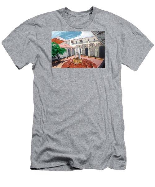 Patio Colonial Men's T-Shirt (Slim Fit) by Lazaro Hurtado