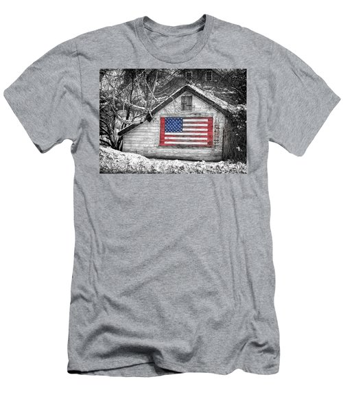 Patriotic American Shed Men's T-Shirt (Athletic Fit)