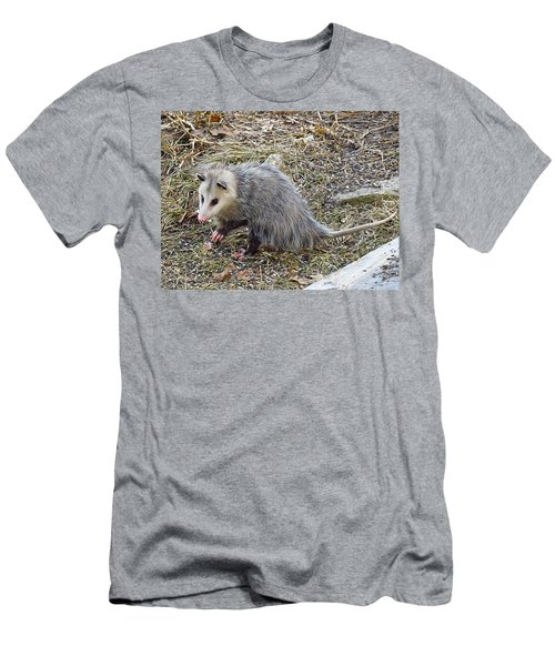 Pawing Possum Men's T-Shirt (Athletic Fit)