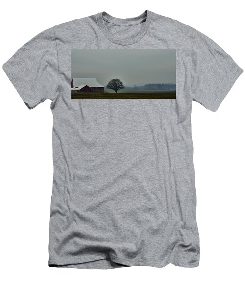 Peaceful Country Morning Men's T-Shirt (Slim Fit) by Don Schwartz