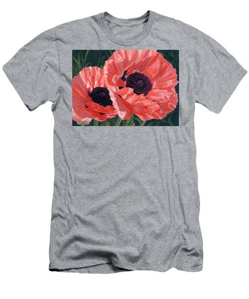 Peachy Poppies Men's T-Shirt (Athletic Fit)