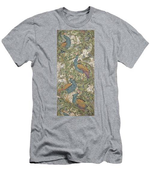 Peacock Garden Wallpaper Men's T-Shirt (Athletic Fit)