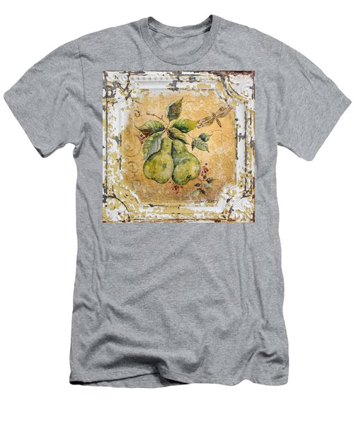 Pears And Dragonfly On Vintage Tin Men's T-Shirt (Slim Fit) by Jean Plout