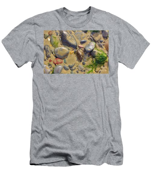 Pebbles On The Beach Men's T-Shirt (Athletic Fit)