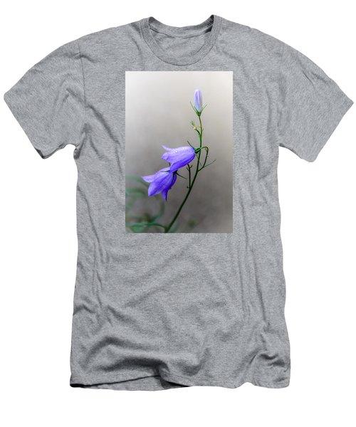 Blue Bells Peeking Through The Mist Men's T-Shirt (Slim Fit) by Debra Martz