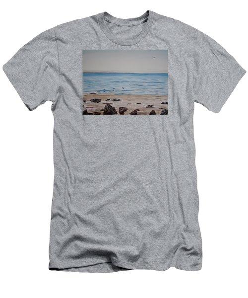 Pelicans At El Capitan Men's T-Shirt (Athletic Fit)