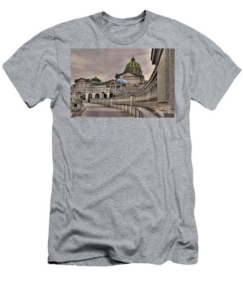 Pennsylvania State Capital Men's T-Shirt (Slim Fit) by Lois Bryan
