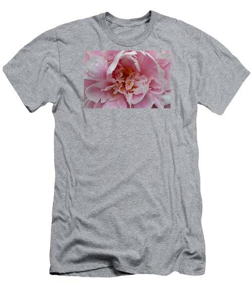 Peony Love Men's T-Shirt (Slim Fit) by Julie Andel