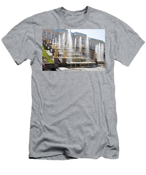 Peterhof Palace Fountains Men's T-Shirt (Athletic Fit)