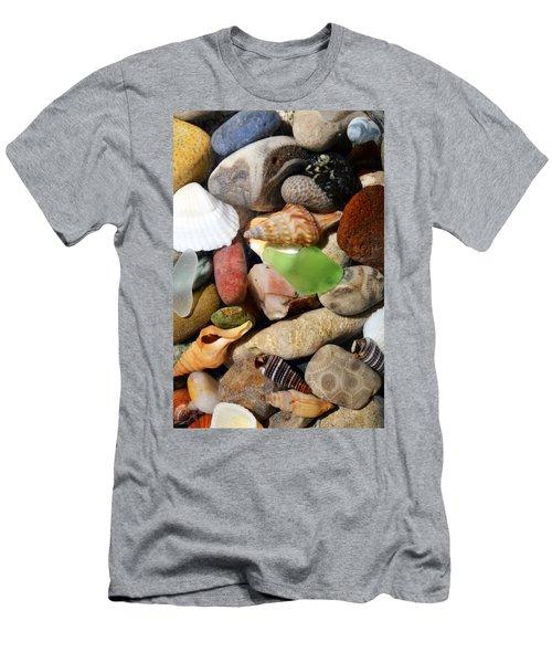 Petoskey Stones L Men's T-Shirt (Athletic Fit)