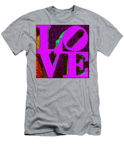 Philadelphia Love - Painterly V2 Men's T-Shirt (Athletic Fit)