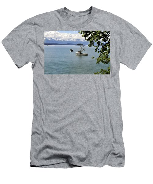 Photo Bomb Men's T-Shirt (Slim Fit) by Cathy Mahnke