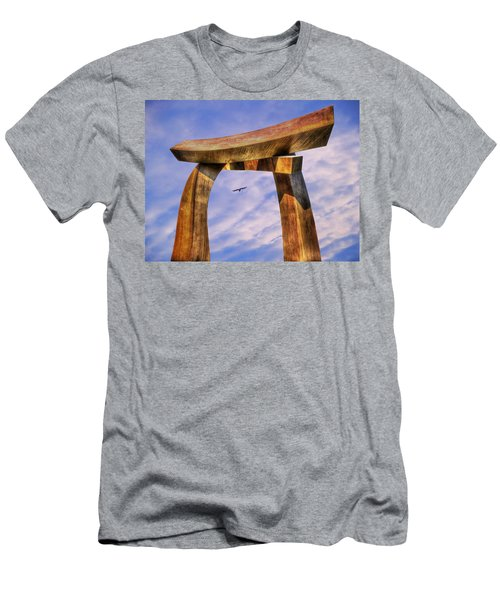 Pi In The Sky Men's T-Shirt (Slim Fit) by Paul Wear