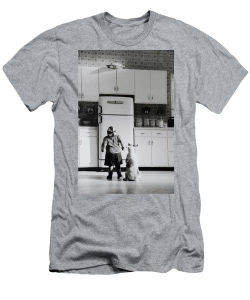 Pie In The Sky In Black And White Men's T-Shirt (Athletic Fit)