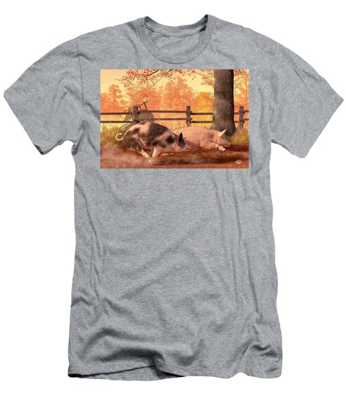 Pig Race Men's T-Shirt (Athletic Fit)