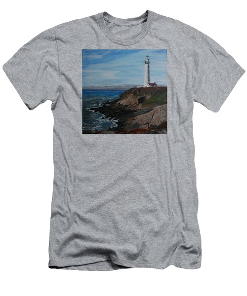 Pigeon Lighthouse Daytime Titrad Men's T-Shirt (Athletic Fit)
